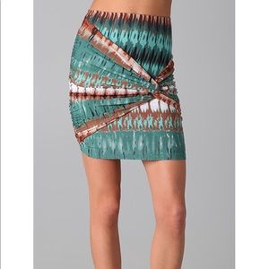 *NWT* Torn by Ronny Kobo Caden Twist Mini Skirt Sm